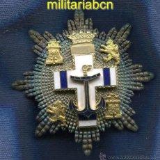 Militaria: PLACA DE LA ORDEN DEL MÉRITO NAVAL. DISTINTIVO BLANCO. PENSIONADA. ÉPOCA DE FRANCO.. Lote 44201035