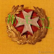 Militaria: MEDALLA INSIGNIA DE SANIDAD, CRUZ PLATEADA LAUREADA, ÉPOCA REPUBLICA ESPAÑOLA, PARA UNIFORME O GORRA. Lote 44322459