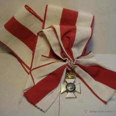 Militaria: BANDA Y VENERA DE LA ORDEN DE SAN HERMENEGILDO. ESMALTES.. Lote 44350187