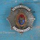 Militaria: ANTIGUA Y PRECIOSA PLACA DE POLICIA MUNICIPAL DE ELCHE ALICANTE - CIRCULACIÓN - AÑOS 40 - ILLICE AUG. Lote 44705132