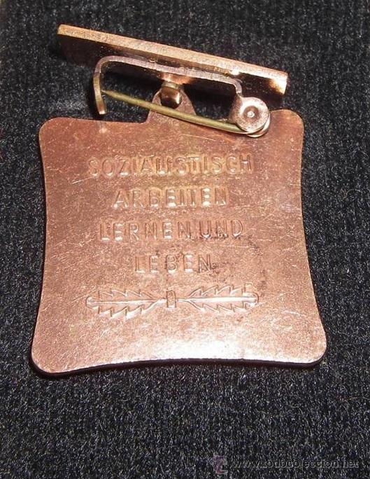 Militaria: MEDALLA MILITAR ANTIGUA COBRE DE LA ALEMANIA 1965 DEL ESTE DDR INSIGNIA VERSION RARA - Foto 2 - 45079460