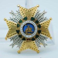 Militaria: GRAN CRUZ ORDEN SAN HERMENEGILDO PREMIO CONSTANCIA MILITAR METAL DORADO PLATEADO Y ESMALTE. Lote 45083537