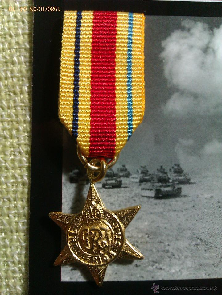 Militaria: Medalla Miniatura Africa Star. Reino Unido. 1940-1943. II Guerra Mundial - Foto 2 - 45158746