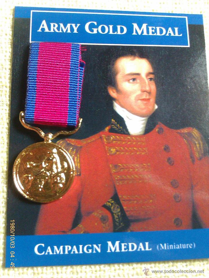 MEDALLA MINIATURA ARMY GOLD MEDAL. WELLINGTON. REINO UNIDO. 1810-1812 (Militar - Reproducciones y Réplicas de Medallas )