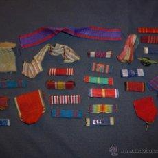 Militaria: GRAN LOTE DE 26 PASADOR Y CINTA DE MEDALLA, DE MEDALLAS AMERICANAS, ORIGINAL, ESTADOS UNIDOS.. Lote 45519131