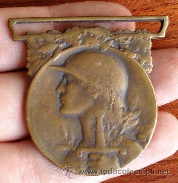MEDALLA INSIGNIA MILITAR GRANDE GUERRE 1914-1918 REPUBLIQUE FRANÇAISE LA GRAN GUERRA FRANCIA (Militar - Medallas Internacionales Originales)