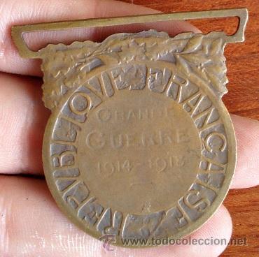 Militaria: MEDALLA INSIGNIA MILITAR GRANDE GUERRE 1914-1918 REPUBLIQUE FRANÇAISE LA GRAN GUERRA FRANCIA - Foto 2 - 65908367