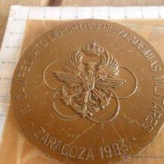 Militaria: MEDALLA IV CAMPEONATOS DEPORTIVO DE ACADEMIAS MILITARES ZARAGOZA 1983. Lote 45603287