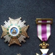 Militaria: (JX-1760)PLACA DE LA REAL Y MILITAR ORDEN DE SAN HERMENEGILDO,CRUZ E INSIGNIA DE OJAL DE LA ORDEN. Lote 45768796