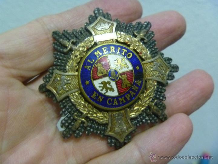 GUERRA CIVIL : PLACA DE MERITO EN CAMPAÑA DE COMBATIENTE NACIONAL (Militar - Medallas Españolas Originales )