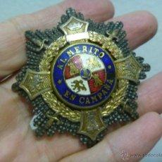 Militaria: GUERRA CIVIL : PLACA DE MERITO EN CAMPAÑA DE COMBATIENTE NACIONAL. Lote 45928732