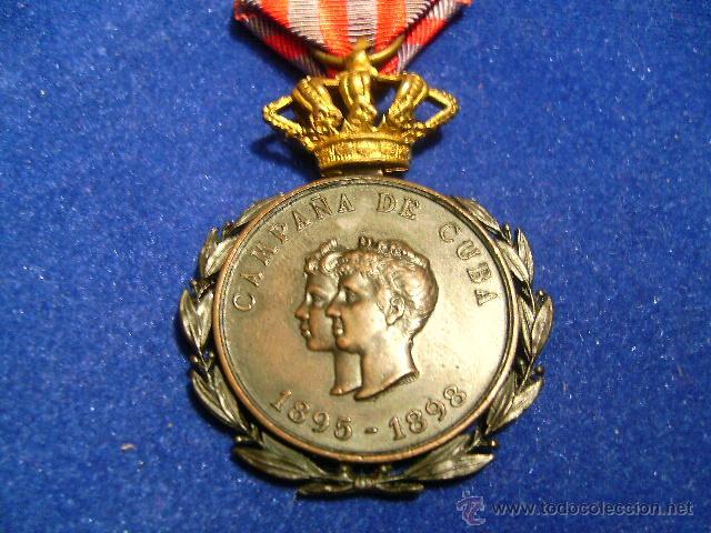 CAMPAÑA DE CUBA 1895-1898 EJERCITO (Militar - Medallas Españolas Originales )