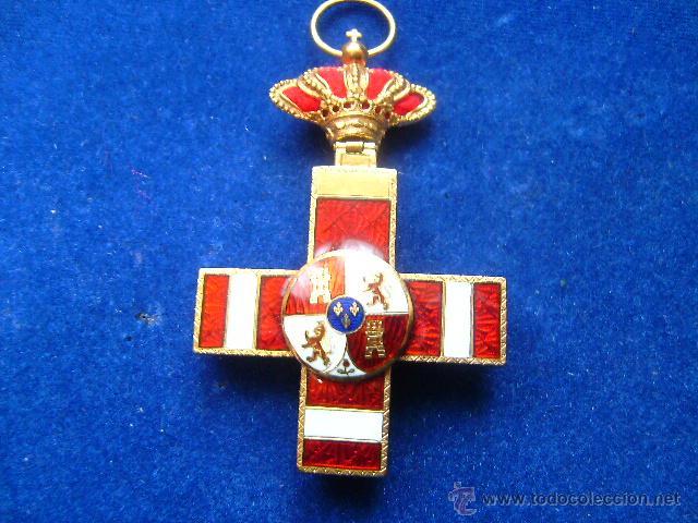 Militaria: cruz merito militar distintivo rojo pensionada alfonsina en oro condecoracion joya - Foto 2 - 46236284