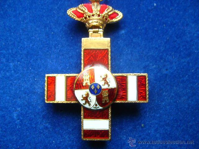 Militaria: cruz merito militar distintivo rojo pensionada alfonsina en oro condecoracion joya - Foto 7 - 46236284