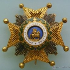 Militaria: GRAN PLACA DE LA ORDEN DE SAN HERMENEGILDO .... EPOCA DE FRANCO O ANTERIOR. Lote 194893227