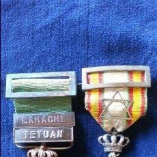 Militaria: MEDALLA DE LA PAZ ORIGINAL Y MEDALLA ORIGINAL LARACHE - TETUAN. Lote 47038244