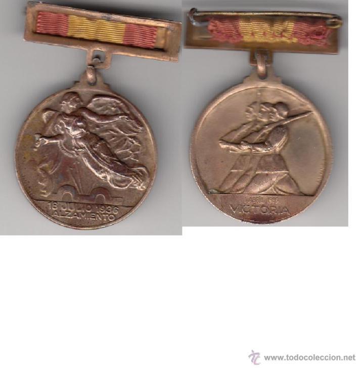 MEDALLA ALZAMIENTO NACIONAL 1936 (Militar - Medallas Españolas Originales )
