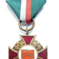 Militaria: POLONIA: MEDALLA AL MÉRITO DE LA UNIÓN POLACA DE JUVENTUDES SOCIALISTAS (ZSMP). Lote 47360552