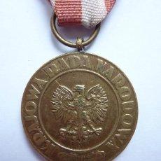 Militaria: POLONIA 1945 - MEDALLA DE LA VICTORIA Y LIBERTAD - A LOS COMBATIENTES DE LA SEGUNDA GUERRA MUNDIAL. Lote 47365691