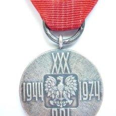 Militaria: POLONIA: MEDALLA 30 ANIVERSARIO DE LA INSTAURACIÓN DE LA REPÚBLICA POPULAR POLACA - (1944 - 1974). Lote 47750134