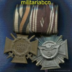 Militaria: ALEMANIA III REICH. PASADOR: MEDALLA DE 10 AÑOS DE SERVICIO AL NSDAP Y CRUZ 1914-1918. Lote 47918065