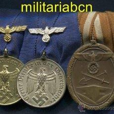 Militaria: ALEMANIA III REICH. PASADOR: - MEDALLA 4 AÑOS SERVICIO WEHRMACHT - MEDALLA 12 AÑOS SERVICIO WEHRMAC. Lote 47918226