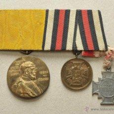 Militaria: ALEMANIA: PASADOR DE 3 MEDALLAS DE VETERANO DE LA GUERRA FRANCO-PRUSIANA (1870 - 1871). Lote 48558082