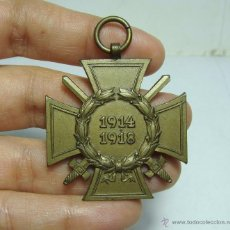 Militaria: MEDALLA CRUZ DE HONOR PARA COMBATIENTES 1914-1918 - W.R. - EHRENKREUZ FRONKÄMPFER - CRUZ HINDENBURG. Lote 48617393