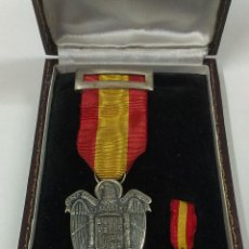 Militaria: DOS MEDALLAS LEY XXVII DE FEBRERO DE MCMVIII. EN PLATA. Lote 48672230