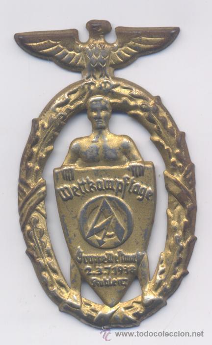 ALEMANIA- 2º GUERRA MUNDIAL-WETTKAMPFTAGE-2-3-7-1938 (Militar - Medallas Internacionales Originales)