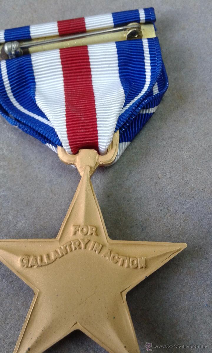 Militaria: USA ESTRELLA DE PLATA + PASADOR - Foto 4 - 57851711