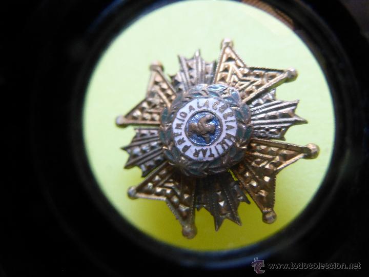 Militaria: ANTIGUA MEDALLA O INSIGNIA MILITAR ESPAÑOLA Premio a la constancia militar, ORDEN SAN HERMENEGILDO - Foto 3 - 49245113