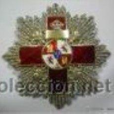 Militaria: PLACA ALFONSINA DE 2ª CLSE MERITO MILITAR DISTINTIVO ROJO,PLATA.. Lote 49581531