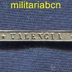 Militaria: PASADOR EN PLATA PARA LA MEDALLA DE DISTINCIÓN DE LA GUERRA CIVIL. 1873-1874: VALENCIA.. Lote 259759395