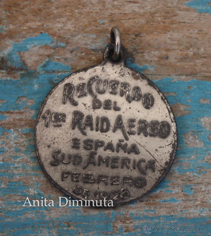 Militaria: ANTIGUA MEDALLA DEL PRIMER RAID AEREO ESPAÑA SUDAMERICA ESPAÑA ARGENTINA EN FEBRERO DE 1926 - COMAND - Foto 4 - 49860579