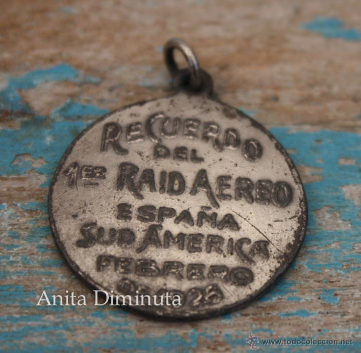 Militaria: ANTIGUA MEDALLA DEL PRIMER RAID AEREO ESPAÑA SUDAMERICA ESPAÑA ARGENTINA EN FEBRERO DE 1926 - COMAND - Foto 5 - 49860579