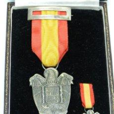 Militaria: MEDALLA EN PLATA INSTITUTO NACIONAL PREVISION, UNA GRANDE LIBRE LEY DE XXVII FEBRERO MCMVIII, JUNTO . Lote 49976452