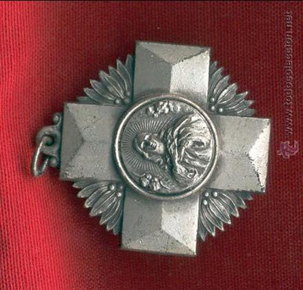 MEDALLA COLEGIO DE LA COMPAÑIA DE MARIA. REVERSO INSCRIPCION COLEGIO COMPAÑIA DE MARIA (Militar - Reproducciones y Réplicas de Medallas )