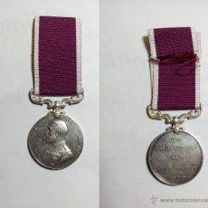 Militaria: MEDALLA BRITANICA DE PLATA DE LA 1ª GUERRA MUNDIAL, 1WW, LONG SERVICE AND GOOD CONDUCT. Lote 50987424