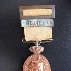 Militaria: GUERRA DE AFRICA : MEDALLA DE LA CAMPAÑA DEL RIF CON PASADOR DE MELILLA.. Lote 51085234