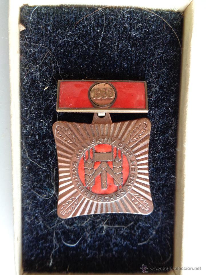 MEDALLA ANTIGUA ALEMAN-DDR. 1966, 100% ORIGINAL DE LA EPOCA (Militar - Medallas Extranjeras Originales)
