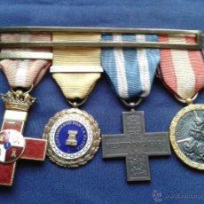 Militaria: PASADOR DE MEDALLAS GUERRA CIVIL.ACCIONES GRABADAS.. Lote 51228191