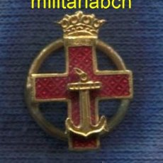 Militaria: MINIATURA DE LA CRUZ DEL MÉRITO NAVAL. DISTINTIVO ROJO. ÉPOCA DE FRANCO. CON BOTÓN.. Lote 51473009