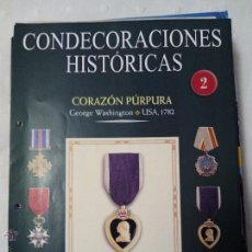 Militaria: FICHA COLECCIÓN DE MEDALLAS SALVAT CONDECORACIONES HISTÓRICAS. Lote 51612991