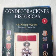 Militaria: FICHA COLECCIÓN DE MEDALLAS SALVAT CONDECORACIONES HISTÓRICAS. Lote 51613007