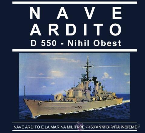 Militaria: autentica placa de metopa destructor armada italiana ardito d550..nihil obest años 60,,con marcajes - Foto 2 - 51696759