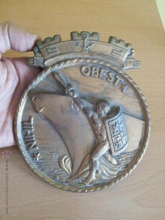 Militaria: autentica placa de metopa destructor armada italiana ardito d550..nihil obest años 60,,con marcajes - Foto 11 - 51696759