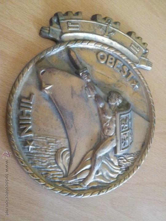 Militaria: autentica placa de metopa destructor armada italiana ardito d550..nihil obest años 60,,con marcajes - Foto 12 - 51696759