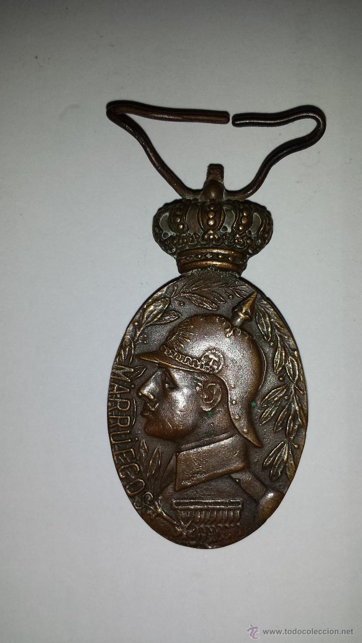 MEDALLA REINADO DE ALFONSO XIII MARRUECOS (Militar - Medallas Españolas Originales )