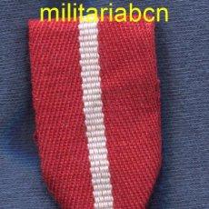 Militaria: ORDEN AL MÉRITO MILITAR. CRUZ DE PLATA. DISTINTIVO ROJO. EPOCA ALFONSO XIII. CINTA BORDADA, POS. Lote 52343388